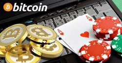 Bitcoins cards chips laptop