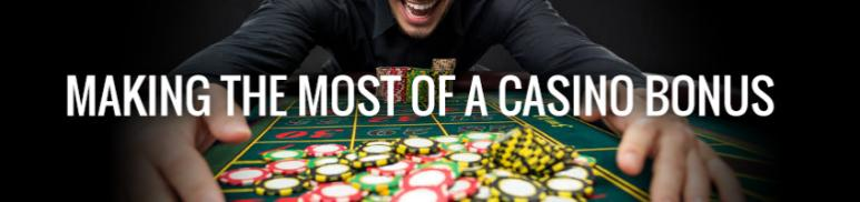 making the most of a casino bonus with player winning casino chips on a casino table